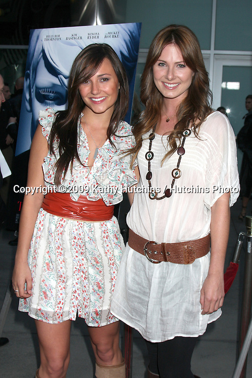 Briana & Vanessa Evigan  arriving at the Informers LA Premiere  at the ArcLight Theaters  in Los Angeles, CA on April 16, 2009.©2009 Kathy Hutchins / Hutchins Photo....                .