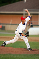 July 6th 2008:  Pitcher Kyle Walter of the Auburn Doubledays, Class-A affiliate of the Toronto Blue Jays, during a game at Falcon Park in Auburn, NY.  Photo by:  Mike Janes/Four Seam Images