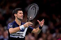 3rd November 2019, AccorHotels Arena, Bercy, Paris, France; Rolex Paris masters Tennis tournament, finals day;  joie de Novak Djokovic (Srb)
