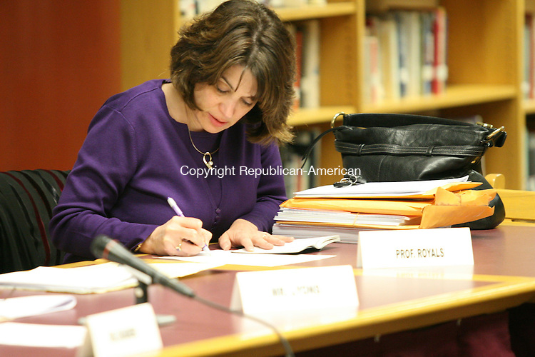 TORRINGTON, CT - 24 November, 2008 - 112408MO06 - Board member Valerie D. Royals is seen here shortly after the Torrington Board of Education voted 9-1 Monday to fire Superintendent Susan W. O'Brien, a process that could take nearly two months to complete if O'Brien challenges her ouster. Royals cast the lone dissenting vote. Jim Moore Republican-American.
