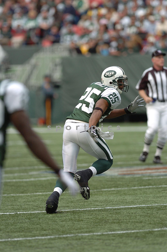 KERRY RHODES, of the New York Jets , in action against the Detroit Lions on October 22, 2006 at the Meadowlands, NJ..Jets win 31-24..Tomasso DeRosa / SportPics...