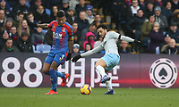 West Ham United's Felipe Anderson and Crystal Palace's Patrick van Aanholt<br /> <br /> Photographer Rob Newell/CameraSport<br /> <br /> The Premier League - Saturday 9th February 2019  - Crystal Palace v West Ham United - Selhurst Park - London<br /> <br /> World Copyright © 2019 CameraSport. All rights reserved. 43 Linden Ave. Countesthorpe. Leicester. England. LE8 5PG - Tel: +44 (0) 116 277 4147 - admin@camerasport.com - www.camerasport.com