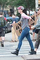 NEW YORK, NY - AUGUST 30:  Sarah Silverman seen filming on August 30, 2017 in New York City. Credit: DC/Media Punch