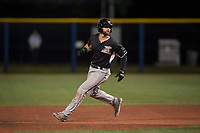 Salem-Keizer Volcanoes first baseman Dalton Combs (31) runs the bases during a Northwest League game against the Hillsboro Hops at Ron Tonkin Field on September 1, 2018 in Hillsboro, Oregon. The Salem-Keizer Volcanoes defeated the Hillsboro Hops by a score of 3-1. (Zachary Lucy/Four Seam Images)