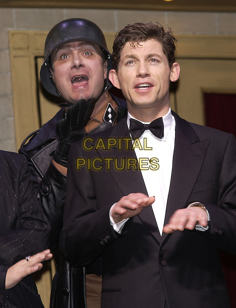 "NATHAN LANE & LEE EVANS.""The Producers"" stage photocall.London, 2 November 2004.Ref: PL.half length, costume.www.capitalpictures.com.sales@capitalpictures.com.©Capital Pictures."