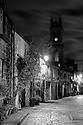 Circus Lane, Stockbridge, at night.