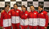 The Netherlands, Den Bosch, 16.04.2014. Fed Cup Netherlands-Japan, Press-conference Japanese team, <br /> Photo:Tennisimages/Henk Koster