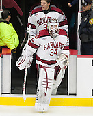 Steve Michalek (Harvard - 34) - The Harvard University Crimson tied the visiting Dartmouth College Big Green 3-3 in both team's first game of the season on Saturday, November 1, 2014, at Bright-Landry Hockey Center in Cambridge, Massachusets.