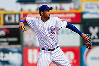 Iowa Cubs third baseman Jeimer Candelario (29) throws to first base during a game against the Colorado Springs Sky Sox on September 4, 2016 at Principal Park in Des Moines, Iowa. Iowa defeated Colorado Springs 5-1. (Brad Krause/Four Seam Images)