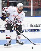 Anthony Bitetto (Northeastern - 7) - The visiting Merrimack College Warriors defeated the Northeastern University Huskies 4-3 (OT) on Friday, February 4, 2011, at Matthews Arena in Boston, Massachusetts.