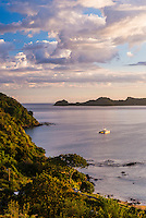 Bay of Islands at sunrise, seen from Russell, Northland Region, North Island, New Zealand