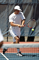 SAN ANTONIO, TX - APRIL 19, 2008: The University of Texas-Pan American Broncos vs. The University of Texas at San Antonio Roadrunners Men's Tennis at the UTSA Tennis Center. (Photo by Jeff Huehn)