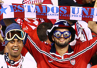 SAN JOSE, COSTA RICA - September 06, 2013: Fans of the USA MNT during the Costa Rica MNT 2014 World Cup qualifying match at the National Stadium in San Jose on September 6. USA lost 3-1.