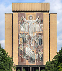 Aug. 30, 2014; The Word of Life Mural on Hesburgh Library, commonly known as Touchdown Jesus..Photo by Matt Cashore/University of Notre Dame