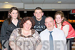 NIGHT AT THE DOGS: Having a great time at the Kingdom Greyhound Stadium Night at the Dogs on Friday seated l-r: Patricia and Frank Long. Back l-r: Mariead, Kevin and Roisin Long..