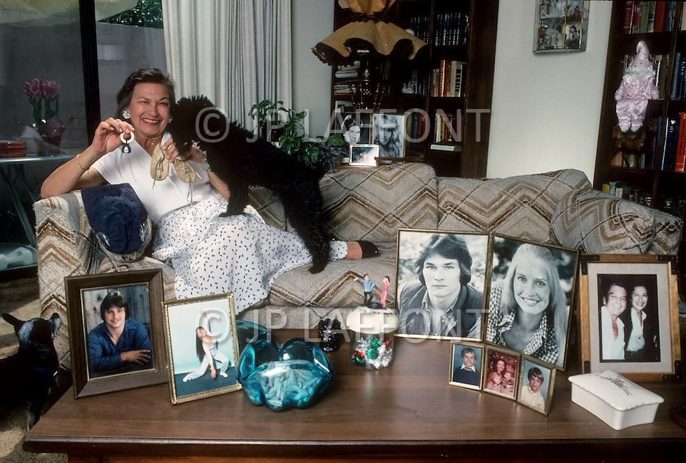 Los Angeles, USA, 1987. Patsy Swayze, the mother of Patrick Swayze.