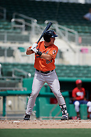 Baltimore Orioles Doran Turchin (83) at bat during a Florida Instructional League game against the Boston Red Sox on September 21, 2018 at JetBlue Park in Fort Myers, Florida.  (Mike Janes/Four Seam Images)