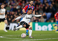 5th January 2020; Selhurst Park, London, England; English FA Cup Football, Crystal Palace versus Derby County; Duane Holmes of Derby County - Strictly Editorial Use Only. No use with unauthorized audio, video, data, fixture lists, club/league logos or 'live' services. Online in-match use limited to 120 images, no video emulation. No use in betting, games or single club/league/player publications
