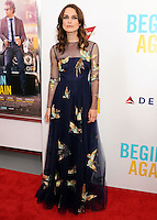 "NEW YORK CITY, NY, USA - JUNE 25: Actress Keira Knightley arrives at the New York Premiere Of The Weinstein Company's ""Begin Again"" held at the SVA Theatre on June 25, 2014 in New York City, New York, United States. (Photo by Celebrity Monitor)"