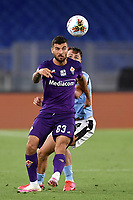 Patrick Cutrone of Fiorentina and Patric Gil of SS Lazio compete for the ball during the Serie A football match between SS Lazio and ACF Fiorentina at stadio Olimpico in Roma ( Italy ), June 27th, 2020. Play resumes behind closed doors following the outbreak of the coronavirus disease. Photo Antonietta Baldassarre / Insidefoto