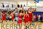 Garveys Daire Kennelly rise high to get a basket against UCC in the U20 Basketball league in the Tralee Sports Complex on Sunday