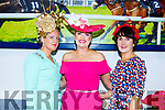 Nollaig McCarthy (Finuge), Diane Jeffers (Ardfert) and Laura Horgan (Finuge) attending the Ladies Day at the Listowel Races on Sunday.