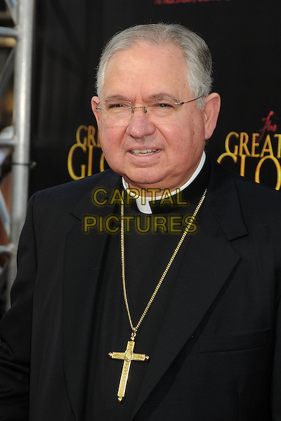 "Archbishop Jose H. Gomez.""For Greater Glory"" Los Angeles Premiere held at the AMPAS Samuel Goldwyn Theater, Beverly Hills, California, USA..May 31st, 2012.headshot portrait black white collar gold necklace cross crucifix glasses religious .CAP/ADM/BP.©Byron Purvis/AdMedia/Capital Pictures."