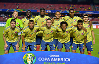 SAO PAULO – BRASIL, 19-06-2019: Jugadores de Colombia posan para una foto previo al partido de la Copa América Brasil 2019, grupo B, entre Colombia y Catar jugado en el Estadio Morumbí de Sao Paulo, Brasil. / Players of Colombia pose to a photo prior a the Copa America Brazil 2019 group B match between Colombia and Qatar played at Morumbi stadium in Sao Paulo, Brazil. Photos: VizzorImage / Julian Medina / Contribuidor