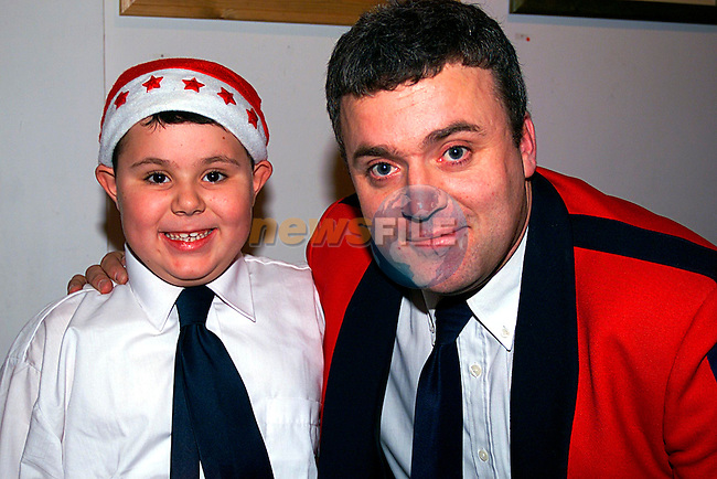 Cormac and Danny Black at the Lourdes Brass Band Christmas Concent in the Arts  Centre..Pic Tony Campbell/Newsfile