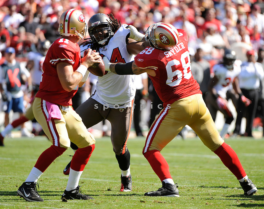 ADRIAN CLAYBORN, of the Tampa Bay Buccaneers, in action during the Bucs game against the San Francisco 49ers on October 9, 2011 at Candlestick Park in San Francisco, CA. The 49ers beat the Buccaneers 48-3.