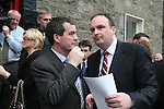 Minister Noel Dempsey at the Conyngham Arms in Slane where Brian Cohen attended with Local Candidates..Photo NEWSFILE/Jenny Matthews.(Photo credit should read Jenny Matthews/NEWSFILE)....This Picture has been sent you under the condtions enclosed by:.Newsfile Ltd..The Studio,.Millmount Abbey,.Drogheda,.Co Meath..Ireland..Tel: +353(0)41-9871240.Fax: +353(0)41-9871260.GSM: +353(0)86-2500958.email: pictures@newsfile.ie.www.newsfile.ie.FTP: 193.120.102.198.