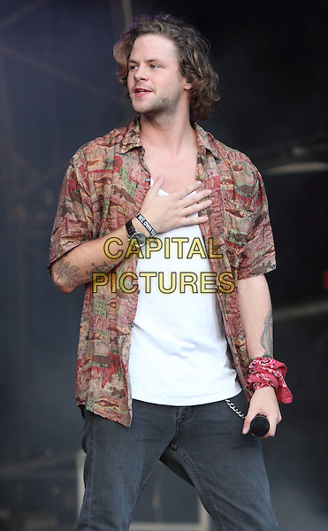 BIRMINGHAM, UNITED KINGDOM - AUGUST 31: The Wanted -  Jay McGuiness performs during day 2 of Fusion Festival 2014 on August 31, 2014 in Birmingham, England.<br /> CAP/ROS<br /> &copy;Steve Ross/Capital Pictures