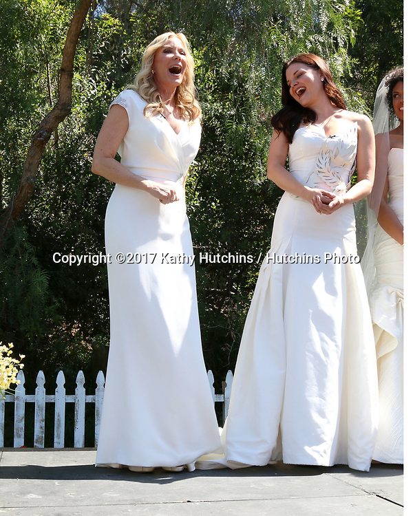 "LOS ANGELES - APR 14:  Katherine Kelly Lang, Heather Tom at the ""Home and Family"" Celebrates ""Bold and Beautiful's"" 30 Years at Universal Studios Back Lot on April 14, 2017 in Los Angeles, CA"