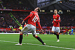 Wayne Rooney of Manchester United celebrates his second goal - Manchester United vs. Sunderland - Barclay's Premier League - Old Trafford - Manchester - 28/02/2015 Pic Philip Oldham/Sportimage