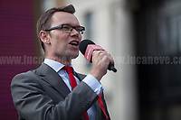 Chris Ostrowski (Labour Party candidate for Member of Parliament for Watford).<br /> <br /> Watford, 07/06/2017. Documenting the last day of Jeremy Corbyn and the Labour Party electoral Campaign on the eve of the General Election 2017: Watford.