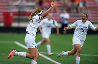 Oregon's Paitlyn Fleming (left) celebrates her goal with sister, Brittyn, as Oregon tops Green Bay Southwest 3-0 to win the WIAA Division 2 girls soccer state championship, on Saturday, June 20, 2015 at Uihlein Soccer Park in Milwaukee, Wisconsin