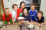 Tracy Coyne the winner of the Great Irish Bake Off tv programme busy making a cake for her children Max, Lucy and Rory and their friends after they returned from holiday on Monday l-r: Donal Hickey, Max O'Gara, Lucy Jane O'Gara Sean Hickey and Rory O'Gara