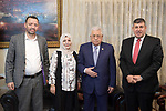 Palestinian President Mahmoud Abbas meets with Jordanian parliamentary delegation, at Abbas's headquarter, in the West Bank city of Ramallah, August 23, 2019. Photo by Thaer Ganaim