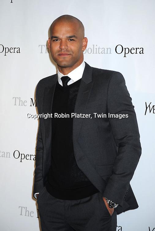 "actor Amaury Nolasco attending The Metropolitan Opera's Gala Premiere of ""Armida"" on April 12, 2010 at The Metropolitan Opera House in New York  City."
