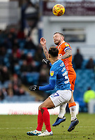 Blackpool's Jay Spearing competing with Portsmouth's Andre Green<br /> <br /> Photographer Andrew Kearns/CameraSport<br /> <br /> The EFL Sky Bet League One - Portsmouth v Blackpool - Saturday 12th January 2019 - Fratton Park - Portsmouth<br /> <br /> World Copyright © 2019 CameraSport. All rights reserved. 43 Linden Ave. Countesthorpe. Leicester. England. LE8 5PG - Tel: +44 (0) 116 277 4147 - admin@camerasport.com - www.camerasport.com