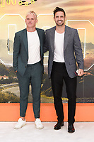 "Jamie Lang and Spencer Matthews<br /> arriving for the ""Once Upon a Time... in Hollywood"" premiere, Leicester Square, London<br /> <br /> ©Ash Knotek  D3514  30/07/2019"
