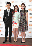 Nat Wolff, Lily Collins & Liana Liberato attending the The 2012 Toronto International Film Festival.Red Carpet Arrivals for 'Writers' at the Ryerson Theatre in Toronto on 9/9/2012