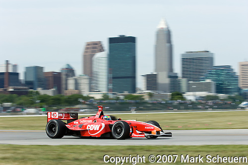 Justin Wilson at the Champ Car Grand Prix of Cleveland, 2007