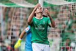 01.09.2019, wohninvest WESERSTADION, Bremen, GER, 1.FBL, Werder Bremen vs FC Augsburg<br /> <br /> DFL REGULATIONS PROHIBIT ANY USE OF PHOTOGRAPHS AS IMAGE SEQUENCES AND/OR QUASI-VIDEO.<br /> <br /> im Bild / picture shows<br /> Joshua Sargent (Werder Bremen #19) ärgert sich über vergebene Torchance, <br /> <br /> Foto © nordphoto / Ewert