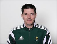 FUSSBALL Fototermin FIFA WM Schiedsrichterassistenten 09.04.2014 Stefan Lupp (Deutschland)