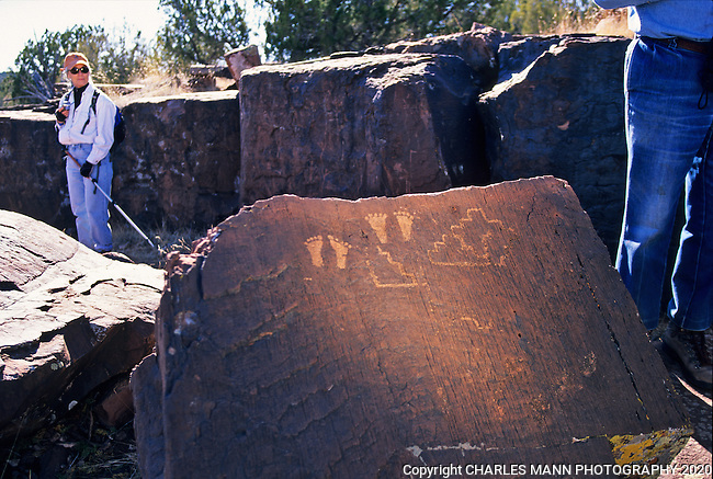Searching for petroglyphs on a museum sponsored field trip can be an exciting adventure on the wild edge of New Mexico. These footprint shaped glyphs are located a few miles from the central New Mexico town of Mountainair.