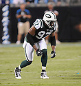 CALVIN PACE, of the New York Jets in action during the Jets game against the Carolina Panthers  at Bank of America Stadium in Charlotte, N.C.  on August 21, 2010.  The Jets beat the Panthters 9-3 in the second week of preseason games...