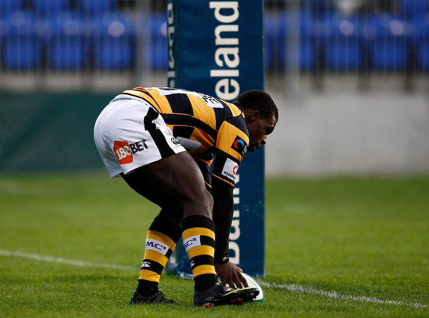 Photo: Richard Lane/Richard Lane Photography. Leinster v London Wasps. Pre Season Friendly. 20/08/2010. Wasps' Christian Wade scores a try.