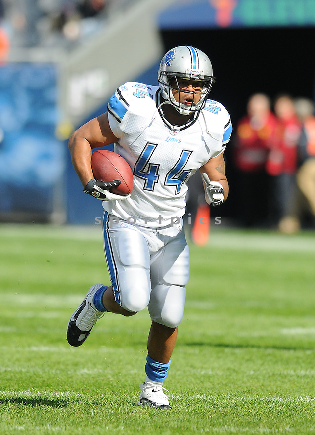 TERRELLE SMITH, of the Detroit Lions  in action during the Lions game against the Chicago Bears in Chicago, IL on October 4, 2009.  The Bears beat the Lions  win 48-24..