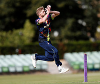 Calum Haggett bowls for Kent during the T20 friendly between Kent and the Netherlands at the St Lawrence Ground, Canterbury, on July 3, 2018